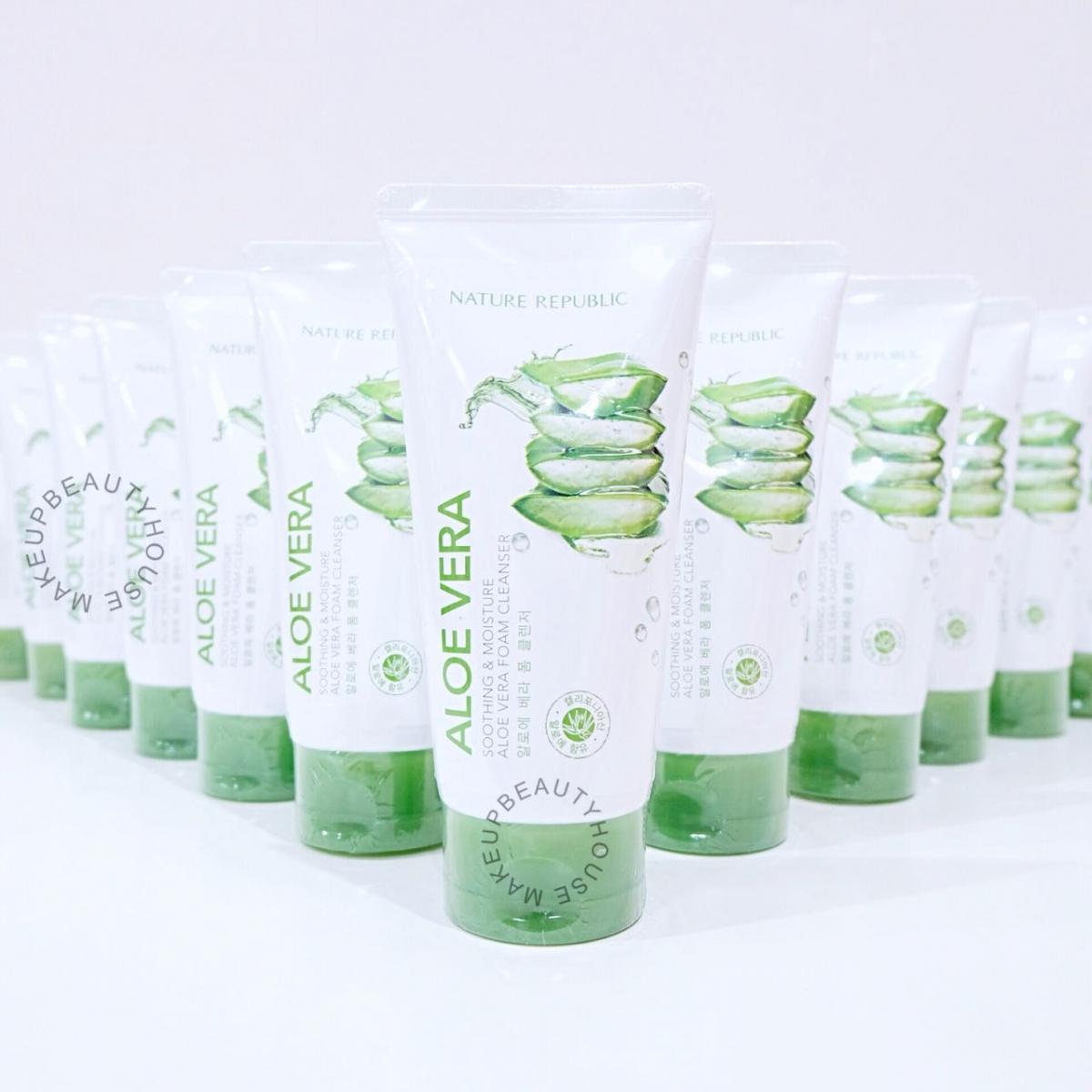 Soothing Moisture Aloe Vera Foam Cleanser Makeup Beauty House Nature Republic Prev Next