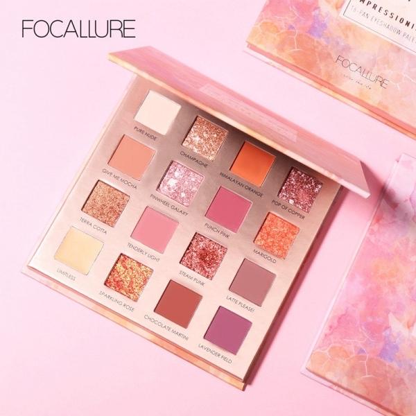 FOCALLURE (FA88) Sunrise Eyeshadow Palette 16 Colors [BPOM]