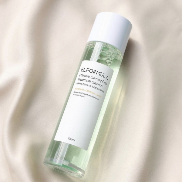 ELFORMULA Effective Calming First Treatment Essence Redness Relief and Anti-Blemish Formula 120ml