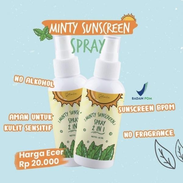 LEA GLORIA Minty Sunscreen Spray 2 in 1