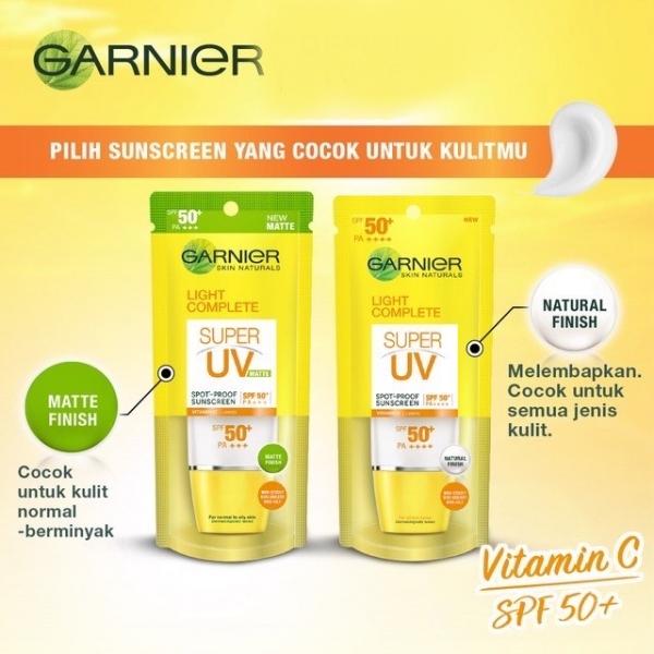 GARNIER Super UV Spot Proof Sunscreen SPF 50+ PA+++ Matte   Natural 30ml/7ml
