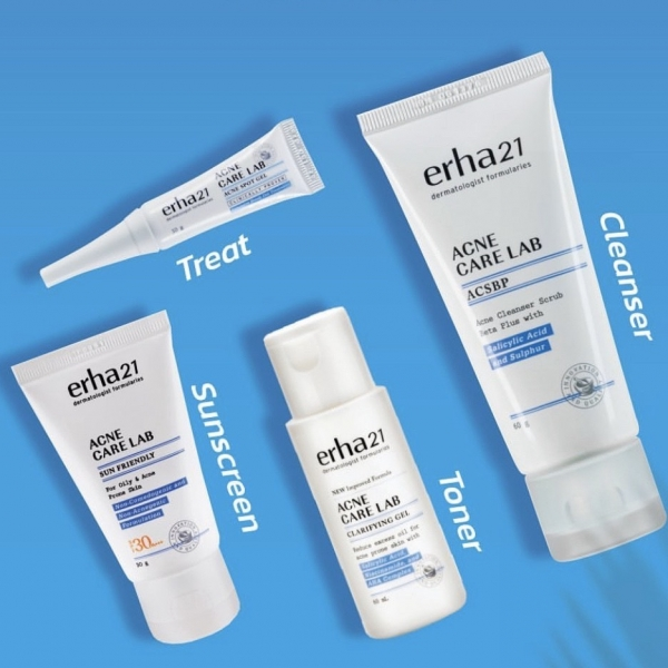 Acne Care Lab Series (Cleanser ACSBP/ Spot Gel/ Sun Friendly/ Clarifying Gel)