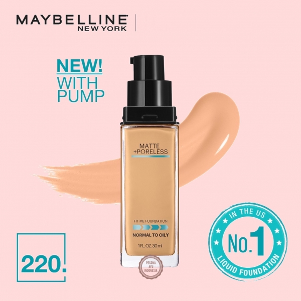 Fit Me! Matte + Poreless Liquid Matte Foundation (Tahan Lama Hingga 24 Jam)