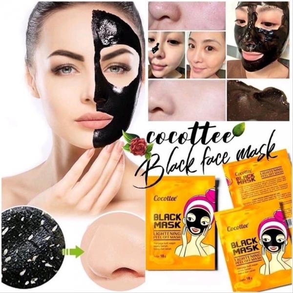 COCOTTEE [BPOM] Black Mud Face Mask / Brightening Peel Off Mask 1ea