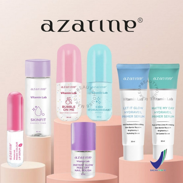 AZARINE Vitamin Lab - Mask Cleanser | Essence Toner | CBD Hydraoxidant | Primer Serum | Nail Polish | Lip Serum