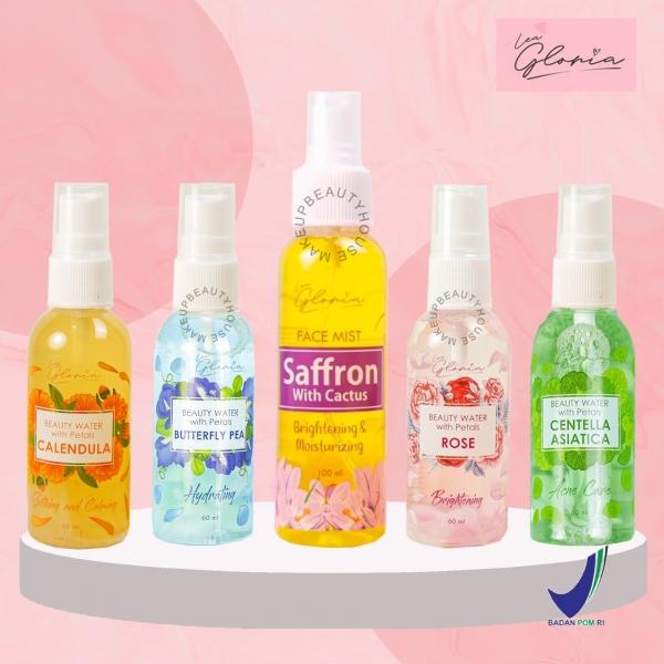 LEA GLORIA Beauty Water with Petals 60ml | Face Mist Saffron with Cactus 100ml