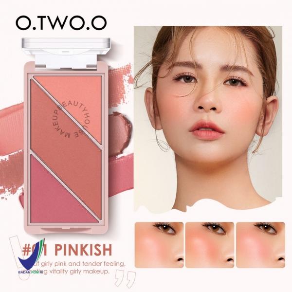 [BPOM] O.TWO.O Sweetheart Girl 3in1 Blush Multifunctional Highlight Blush & Contouring powder Palette