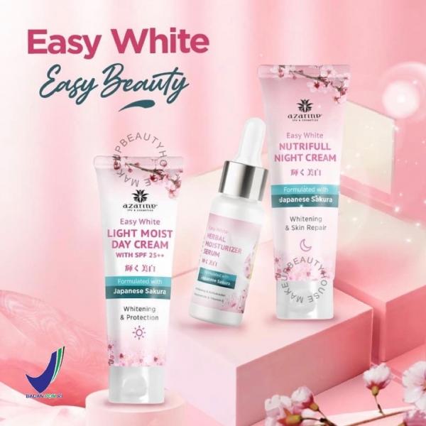 AZARINE Easy White Series - Herbal Moisturizer Serum | Light Moist Day | Nutrifull Night Cream