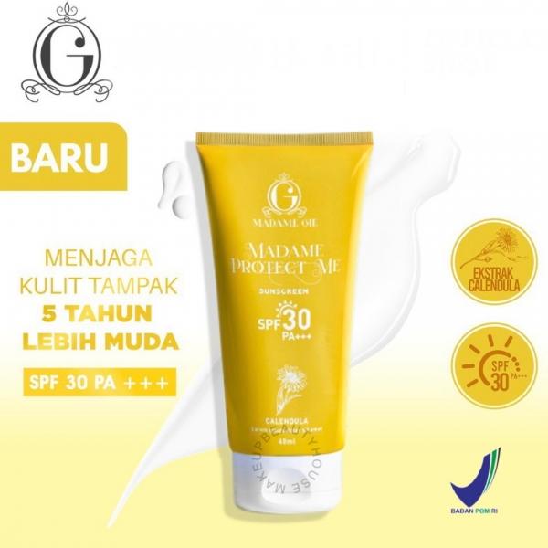 MADAME GIE Protect Me Sunscreen SPF 30 PA +++ With Calendula - Skincare Sunblock