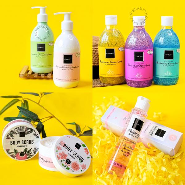 WHITENING Body Lotion / Shower Scrub / Body Scrub / Facial Wash