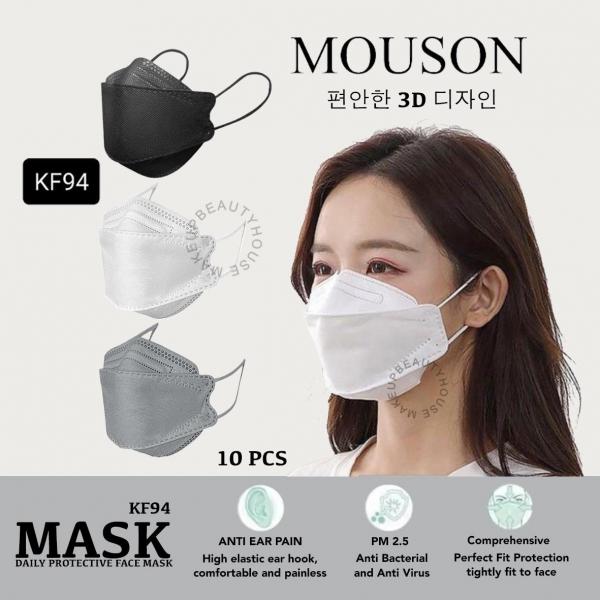 MOUSON KF94 3D Protection Mask 4ply 10pcs (Masker KF94)
